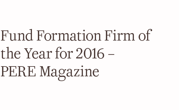 Awards pere fund formation 2016